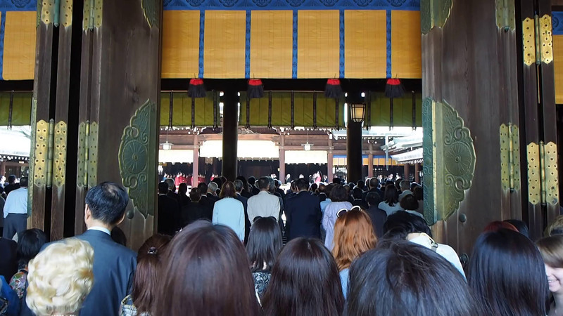 Ceremony occurring in the Shrine