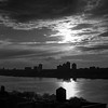 Hudson River - Late Afternoon _ bw