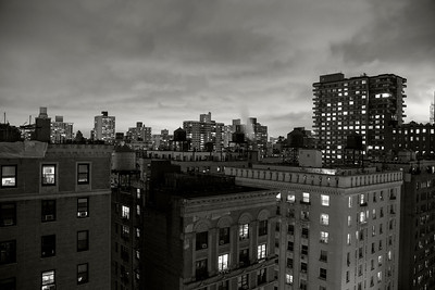 Rooftop View _ bw