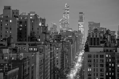 West End Avenue @ Night II _ bw