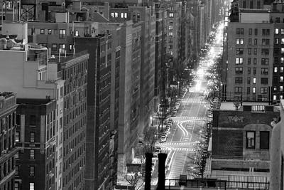 West  End Avenue @ Night _ bw