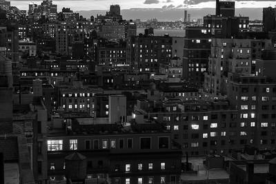Manhattan Dusk _ bw