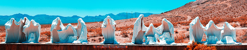The Last Supper, sculpture in Rhyolite, NV