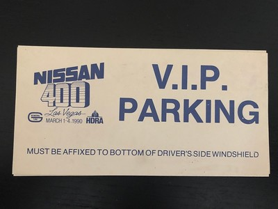 1990 Nissan 400 VIP Parking Pass