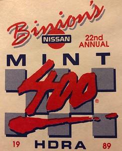 1989 MINT 400 Logo