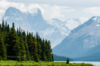 The Rockies Over Maligne Lake II
