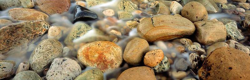 sandstone cobbles, Hayburn Wyke, Yorkshire coast