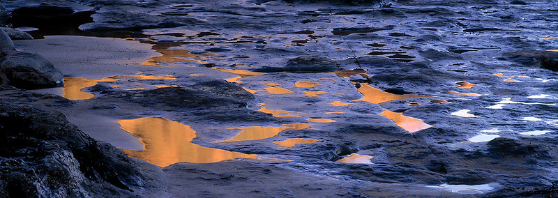 rockpool reflections, Yorkshire coast