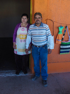 Our waiter & the cook at Boquillas Restaurant.