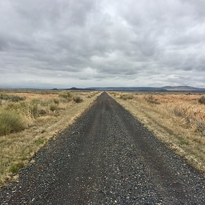 Sometimes the road just goes on as far as you can see.