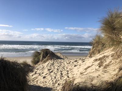 Sand dunes near South Jetty.