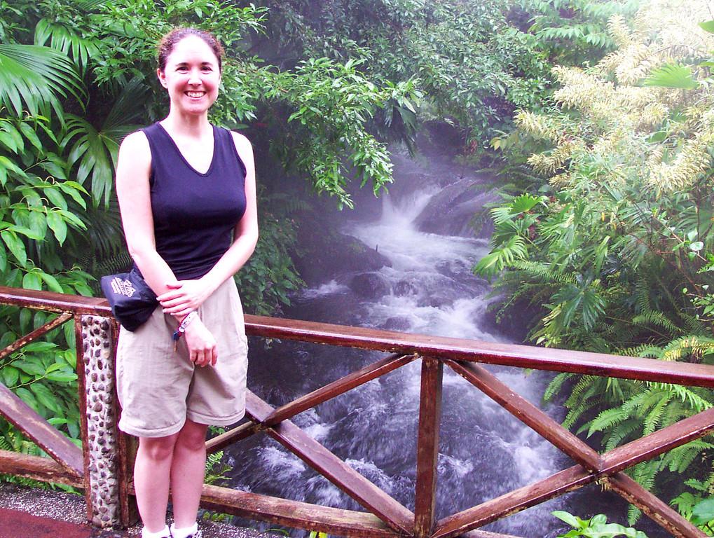 Exploring Tabacon Springs in the Rain