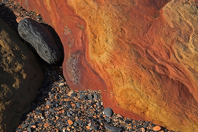 sandstone and iron, Saltwick Bay
