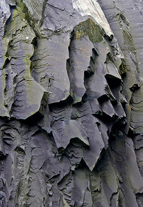 fractures in slate, Dinorwic, Snowdonia, North Wales
