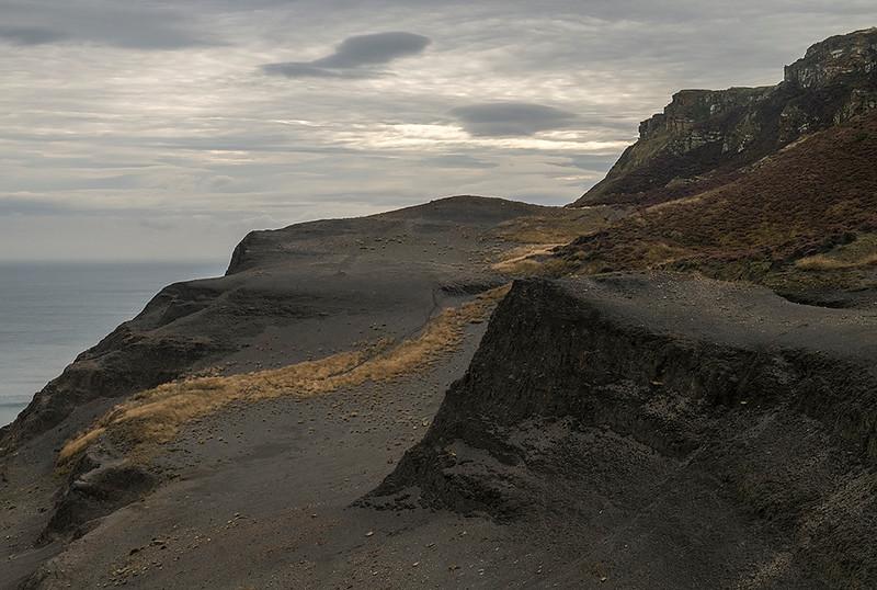 autumn morning, Boulby Cliffs, Yorkshire Coast, England