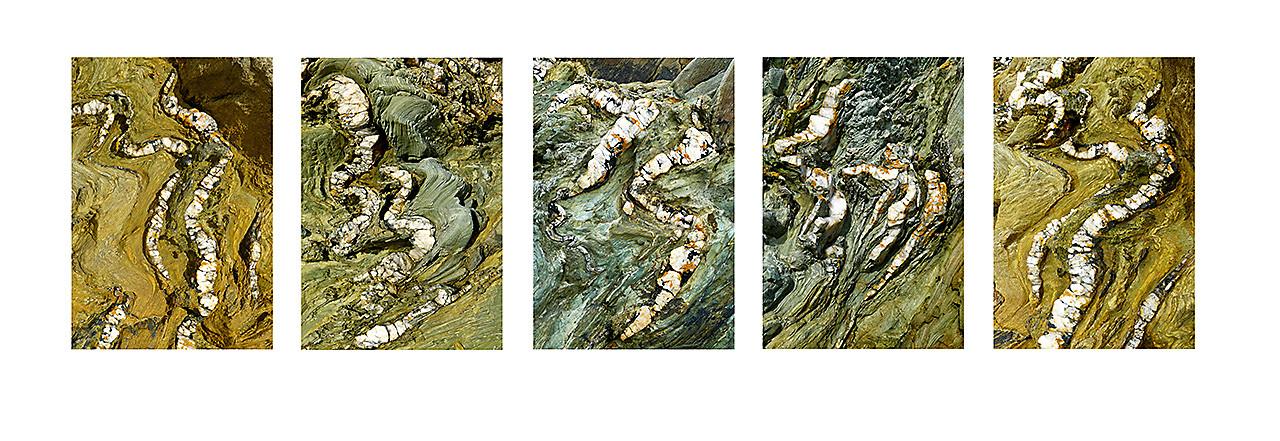 quartz and sandstone, Rhoscolyn, North Wales