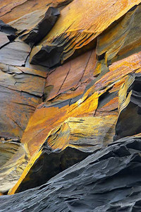 shale and iron, Saltwick, Yorkshire coast