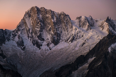 North Face, les Grandes Jorasses, Massif du Mont Blanc, France