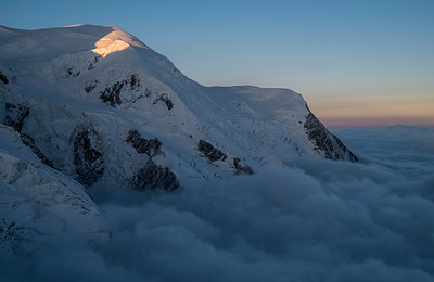 dawn light, Dome du Gouter, Massif du Mont Blanc, France