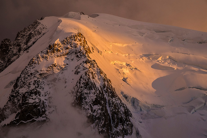 evening light over Mont Blanc du Tacul, Massif du Mont Blanc