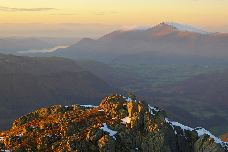 Skiddaw from Helvellyn, English Lake District