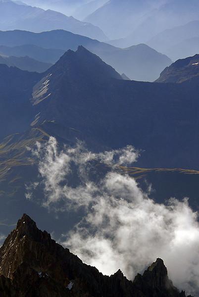 Val d'Aosta from Dent du Geant, Mont Blanc