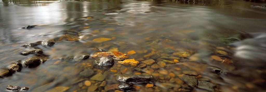 Quiet flow, spring, River Derwent, North York Moors