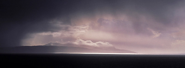 storm light over Rhum, Hebrides