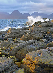 breaking wave, Cuillin, Isle of Skye