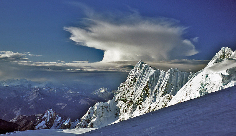 anvil cloud over Rondoy, Peruvian Andes