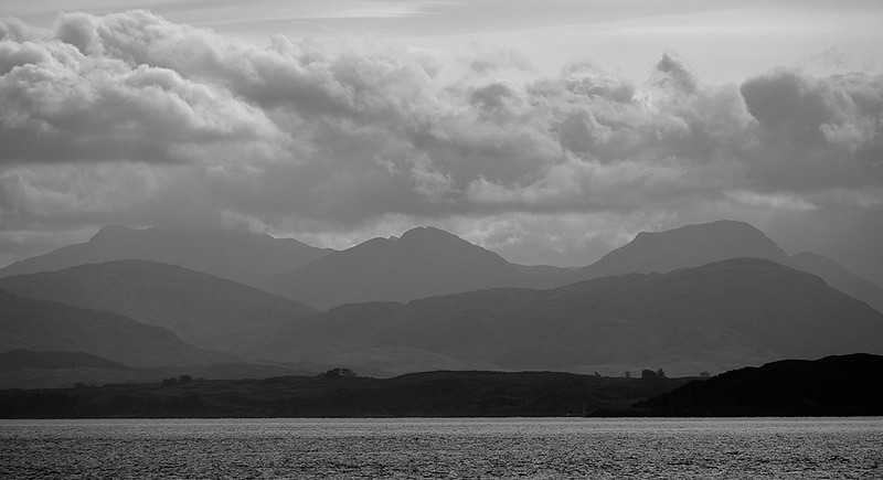 Towards Lochaber from the Isle of Mull, Hebrides