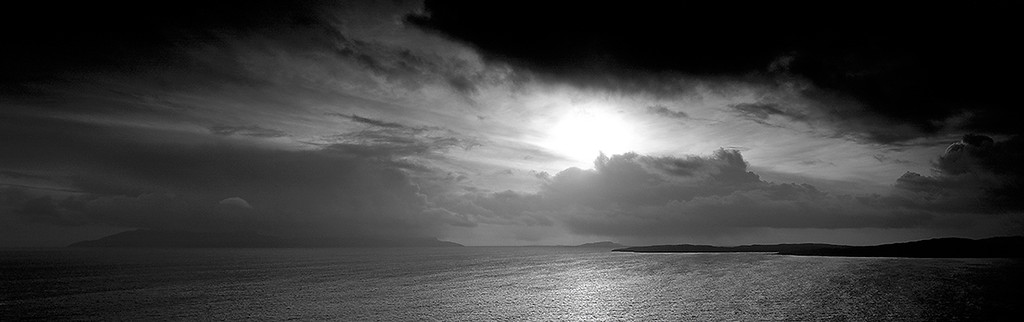 evening storm over Rhum, Hebrides