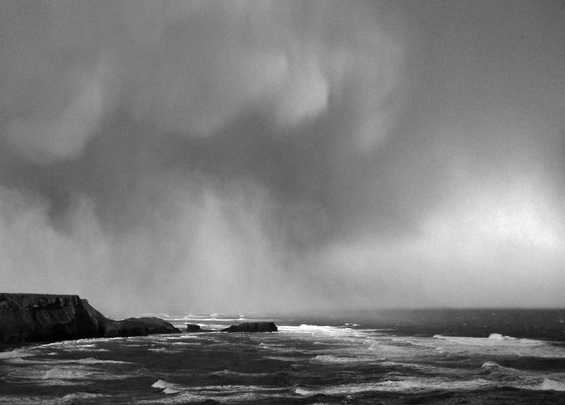 storm, Saltwick, Yorkshire coast