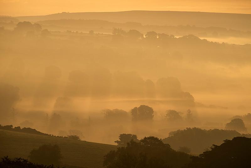 Esk Valley dawn, North York Moors, England