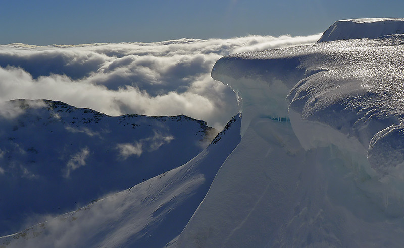 Cornices, Aonach Mor, Scottish Highlands