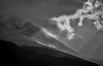 clearing storm, Ben Nevis, Scottish Highlands
