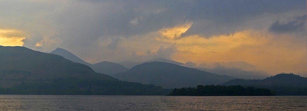 storm clouds over Derwentwater, Lake District