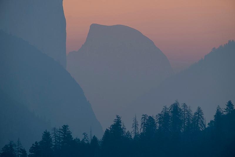 El Capitan and Half Dome, Yosemite, California, USA
