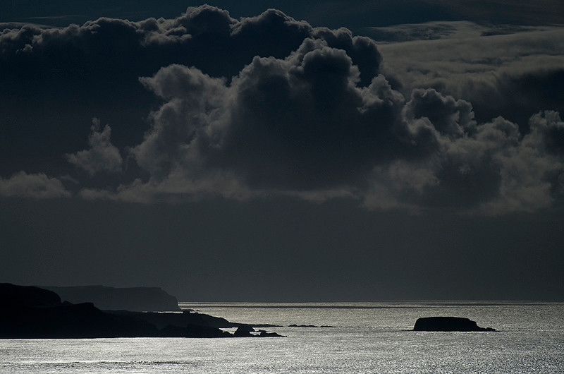 approaching storm, Antrim Coast, Northern Ireland