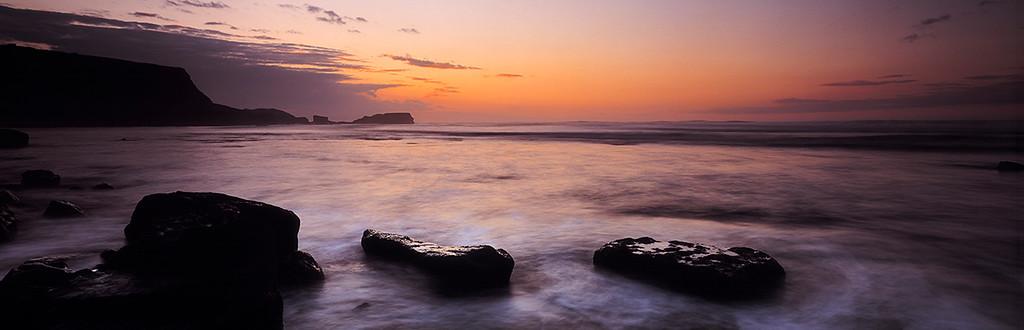 midsummer, Saltwick, Yorkshire coast