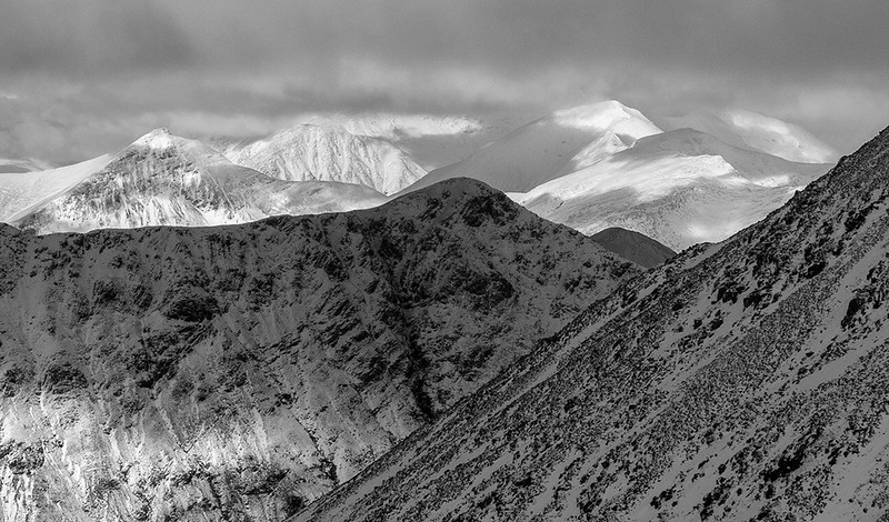 The Mamores from Bidean nam Bian, Scottish Highlands