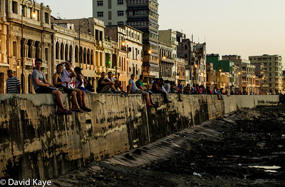 An early evening stroll along the Malecon,  on Havana's waterfront