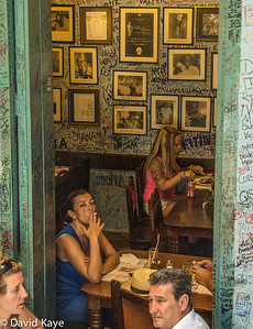 Amidst the graffiti at La Bodeguita del Medio, one of Havana's best known restaurants