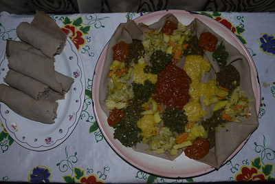 Home cooked Ethiopian food from Yohannes's sister