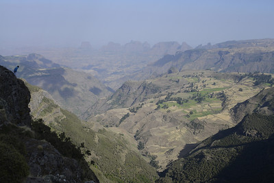 Looking out over the Simien mountains from 3800m. I left it to our guide to look down!