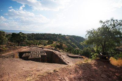 The famous churches of Lalibela cut out of the rocks in the 12th century, this being the most famous - Bet Giyorges (3 photos)