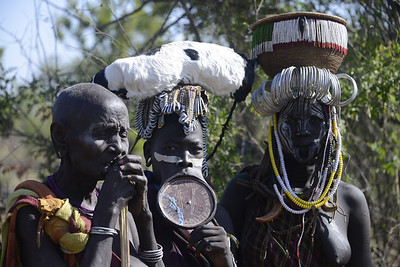 and the discomforting images of the women's lip plates