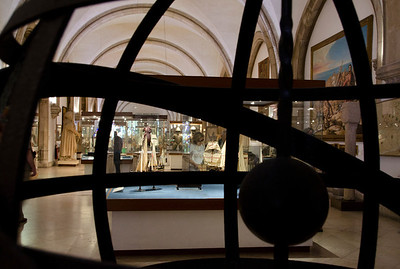 Maritime Museum seen through the globe,