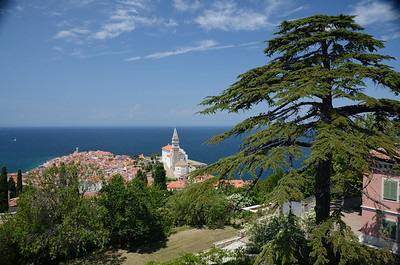 The view of Piran, with its Venetian-inspired architecture,and just as narrow streets (2)
