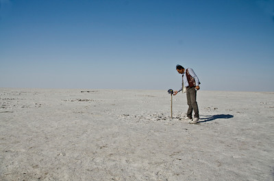The barren landscape, crunchy underfoot, and being close the the Pakistan border, requiring extra security check to visit